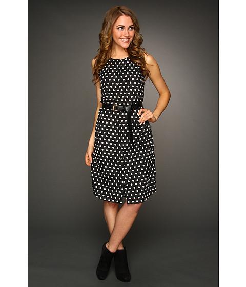 Rochii Michael Kors - Dot Sleeveless Shirt Dress - Black