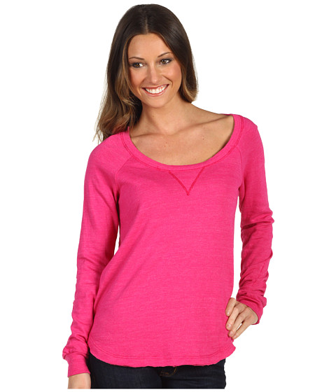 Pulovere Splendid - Heather Fleece Pullover - Dragonfruit