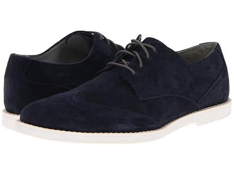 Pantofi Calvin Klein - Faxon Suede - Navy/Off White