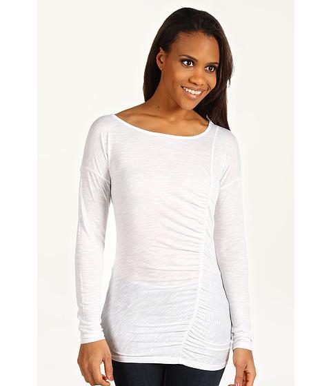 Bluze DKNY - Asymmetrical Shirred Top - White