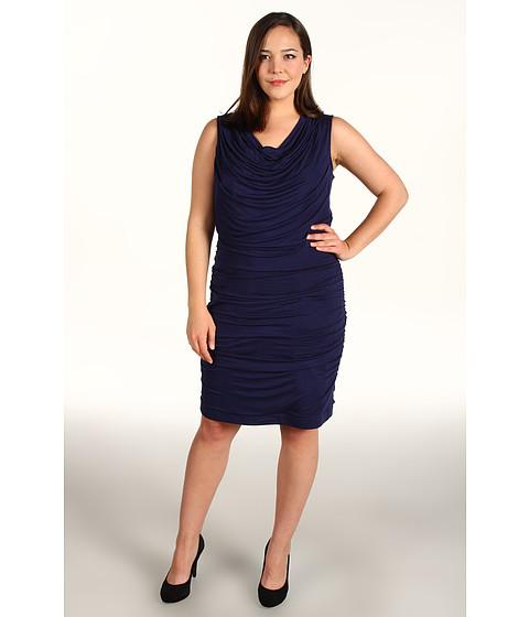Rochii DKNY - Plus Size Sleeveless Dress w/ Draping - Night Sky