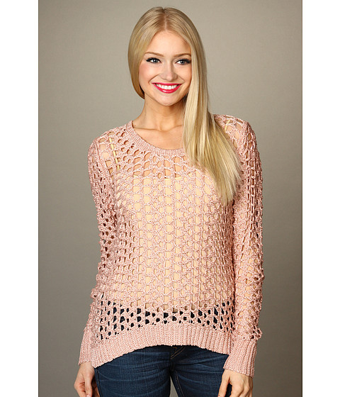 Bluze Lucky Brand - Macey Metallic Sweater - Soft Blush