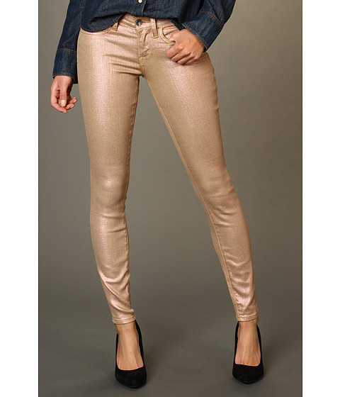 Blugi Lucky Brand - Charlie Skinny Coated Sparkle Jean - Rose Gold