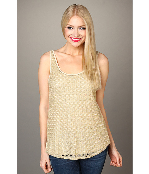 Bluze Lucky Brand - Gilded Lace Tank - Creme Brulee