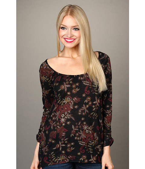 Bluze Lucky Brand - Lace Shadows Hera Top - Black Multi