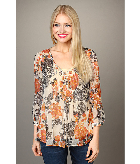 Bluze Lucky Brand - Talitha Floral Blouse - Natural Multi