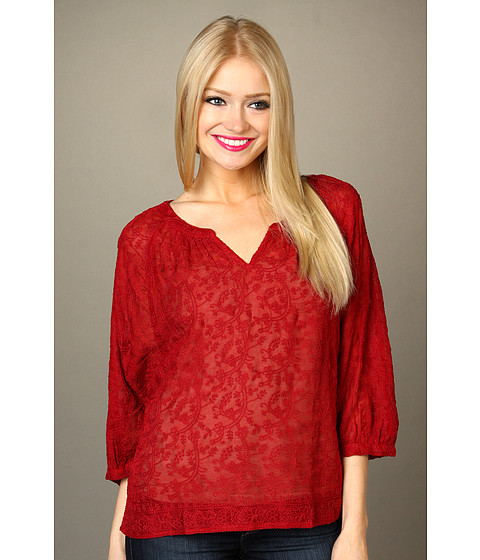Bluze Lucky Brand - Traveler Embroidered Top - Luxe Red