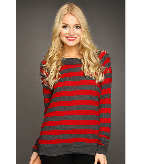 Bluze Michael Stars - Heather Stripe Sweatshirt - Heart