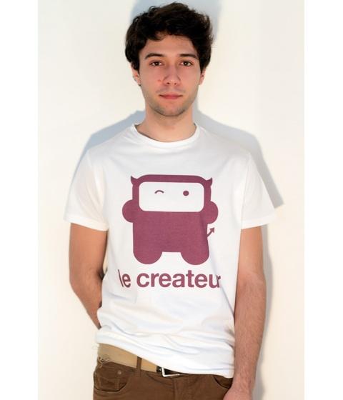 Tricouri LeCreateur - Tricou barbati Evil Robot RH/W - Alb