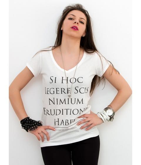 Tricouri LeCreateur - Tricou femei The Over-Educated - Alb