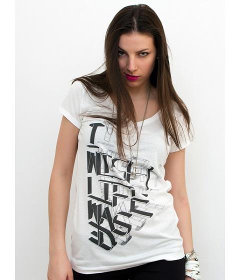 Tricouri LeCreateur - Tricou femei The Life - Alb