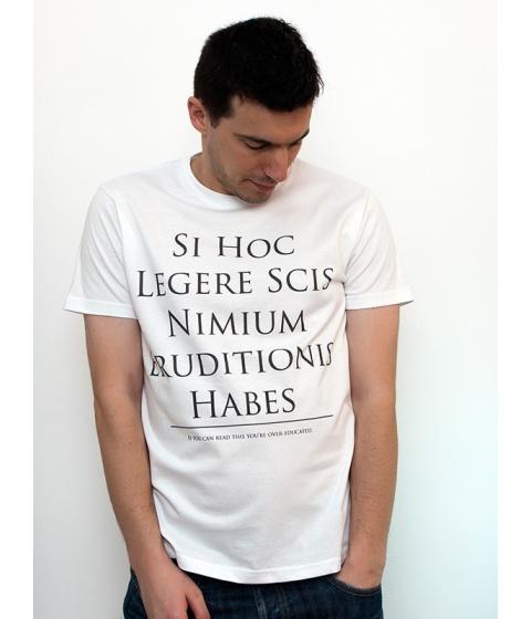 Tricouri LeCreateur - Tricou barbati The Over-Educated - Alb