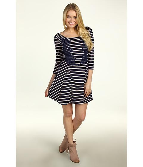 Rochii Free People - Nautical & Knotty Dress - Navy Combo