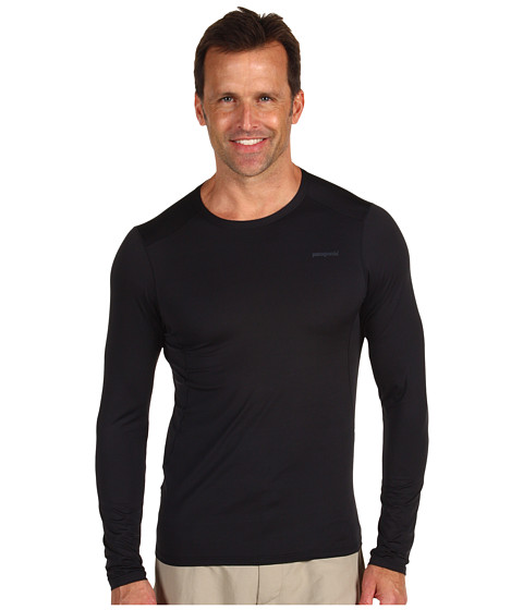 Tricouri Patagonia - Capileneî 1 Silkweight Stretch Crew - Black