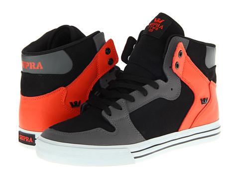 Adidasi Supra - Vaider - Charcoal/Black/Orange