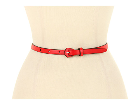 "Curele LAUREN Ralph Lauren - 1/2"" Vachetta Belt with Geometric LCB - Lacquer Red"