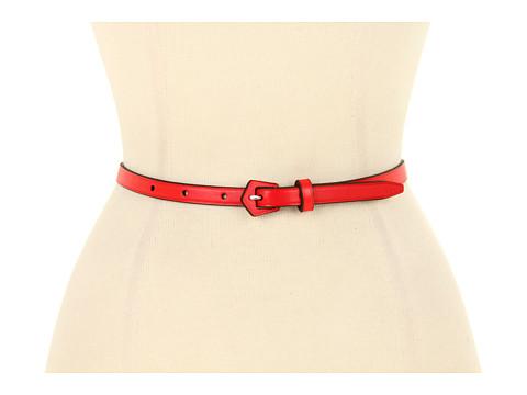 "Curele LAUREN Ralph Lauren - 1/2\"" Vachetta Belt with Geometric LCB - Lacquer Red"