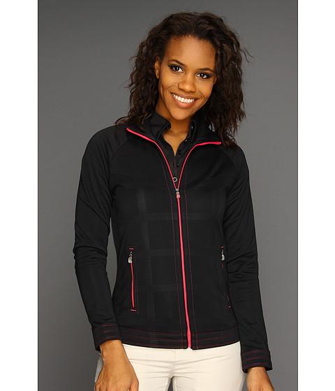 Bluze adidas Golf - FP Debossed Plaid Full-Zip Jacket \13 - Black/FP Candy