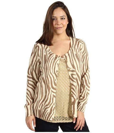 Bluze Lucky Brand - Plus Size Zebra Print Cardigan - Natural Multi