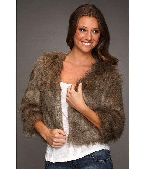 Jachete Lucky Brand - Gypset Faux Fur Jacket - Brown Multi
