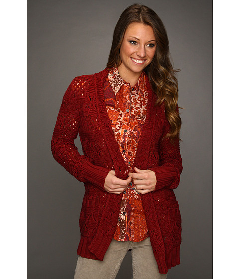 Bluze Lucky Brand - Huntington Sweater - Eastern Red