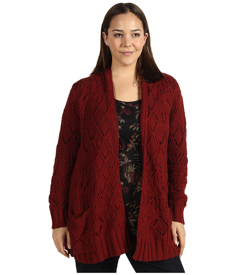 Bluze Lucky Brand - Plus Size Huntington Sweater - Eastern Red