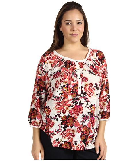 Bluze Lucky Brand - Plus Size Painterly Rose Kara Top - Multi