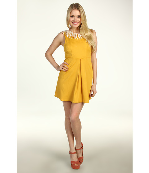 Rochii Free People - Waffle Knit Dress - Buttercream Combo