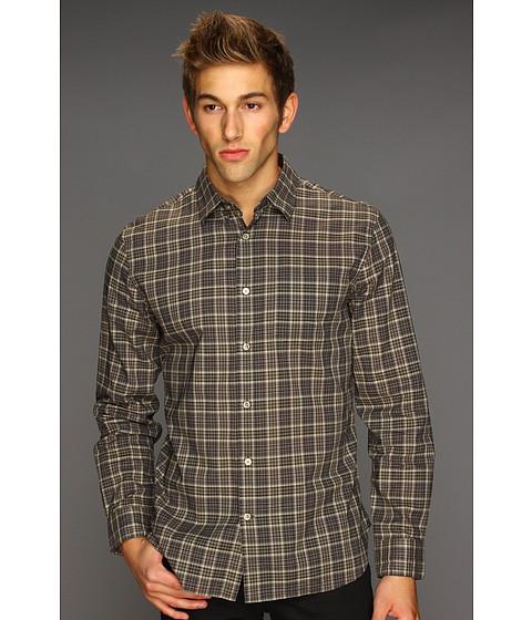 Camasi John Varvatos - Pointed Collar Shirt with Patch Pocket - Fatigued Brown