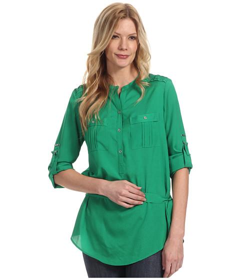Tricouri Calvin Klein - Henley Tunic w/ Self Belt - Emerald