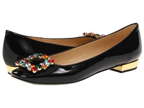 Balerini Kate Spade New York - Norella - Black Patent/Multi Color Stones