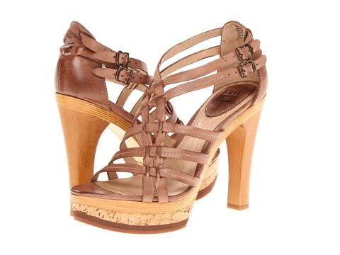 Pantofi Frye - Kara Strappy - Light Brown Burnished Antique Leather