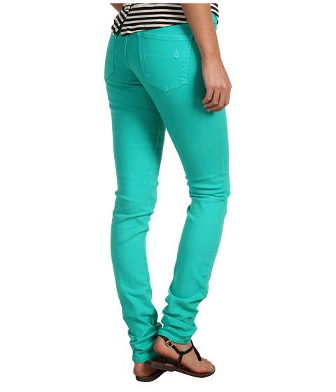 Pantaloni Volcom - Sound Check Super Skinny Jean - Bright Turquoise
