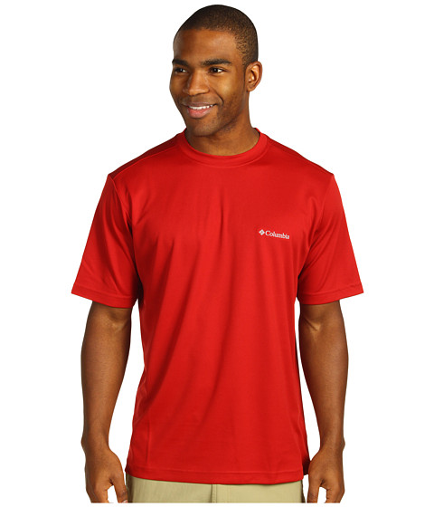 Bluze Columbia - Meeker Peak⢠Short Sleeve Crew - Red Velvet