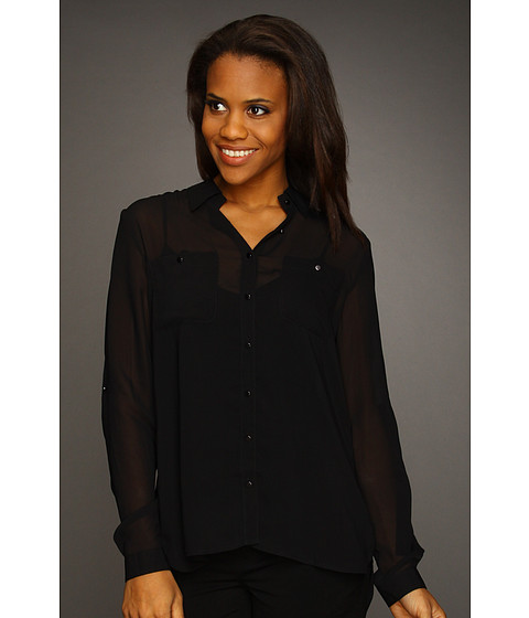 Camasi Kenneth Cole - Blouse w/ Layered Back - Black