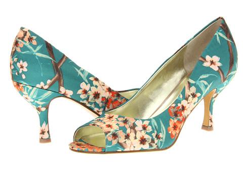 Pantofi Nine West - Quinty - Green Solk Combo Fabric