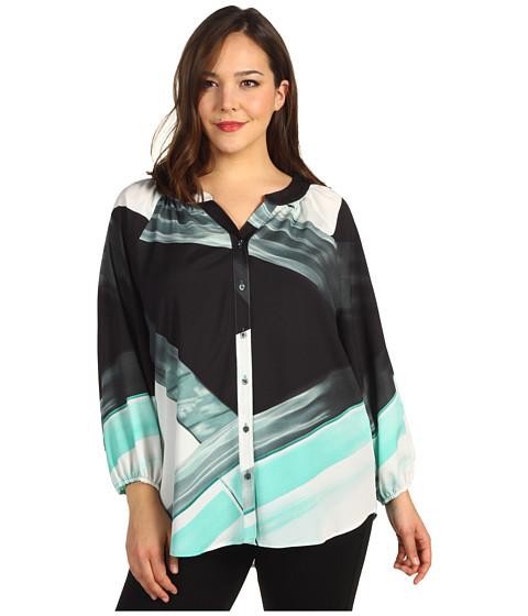 Tricouri Calvin Klein - Plus Size Printed Blouse - Opal Multi