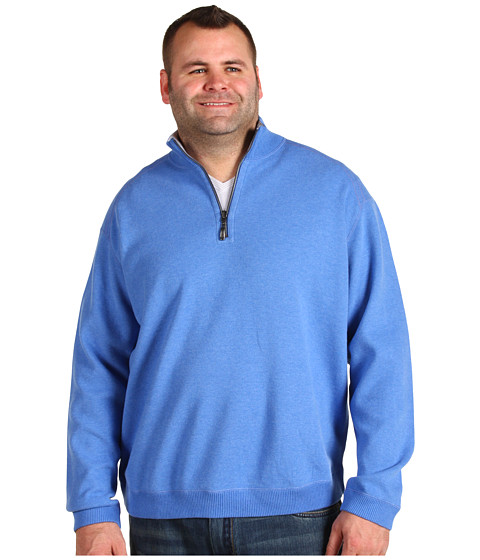 Bluze Tommy Bahama - Big & Tall Flip Side Pro Half Zip - Blue Sea Heather