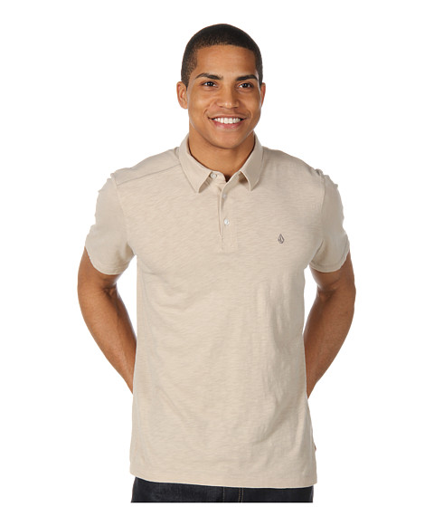 Tricouri Volcom - Blackout Mix Polo S/S Shirt - Vanilla