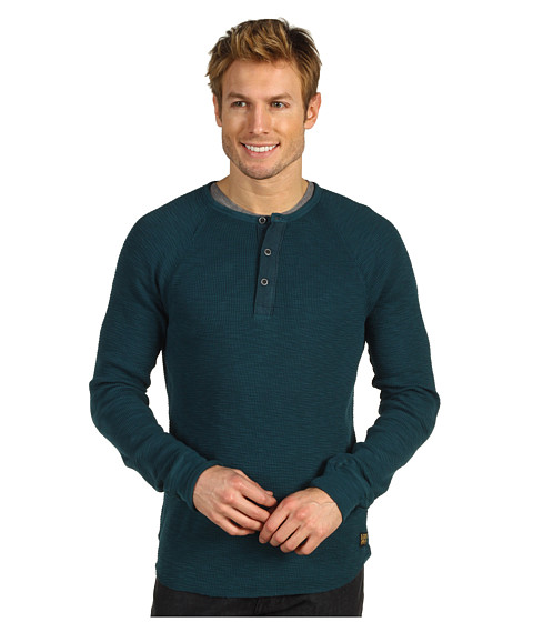 Bluze Lucky Brand - Slub Thermal Henley - Everest Green