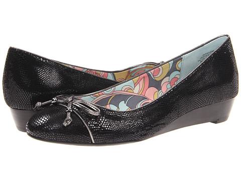 Pantofi Anne Klein - Raylene - Black/Pewter Reptile Print