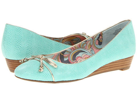 Pantofi Anne Klein - Raylene - Seafoam/Platino Reptile Print