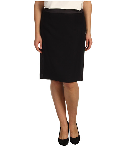 Fuste Anne Klein - Plus Size Tuxedo Skirt - Black