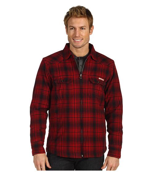 Jachete Lucky Brand - Sherpa Lined Shirt Jacket - Red/Black