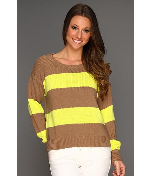 Bluze Gabriella Rocha - Vica Stripe Knit Sweater - Fluorescent Yellow