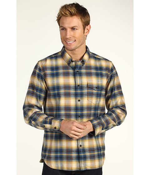 Bluze Lucky Brand - Hamburg One Pocket Button Down Collar Slim Fit Shirt - Blue/Orange