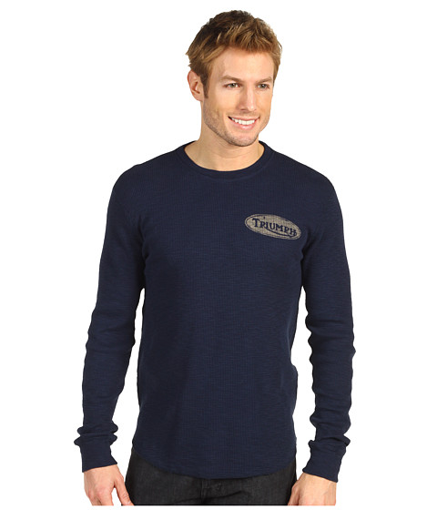 Bluze Lucky Brand - Triumph Graphic Thermal - American Navy
