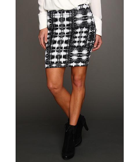 Fuste BCBGMAXAZRIA - Simone Ikat Power Skirt - Black Combo