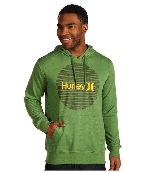 Bluze Hurley - Krush & Only Mesh Fleece Hoodie - Heather Forest