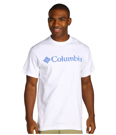 Bluze Columbia - CS Engrained Short Sleeve Tee - White/Vivid Blue